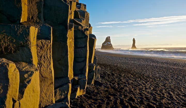 Reynisfjara is a black sand beach in South Iceland.