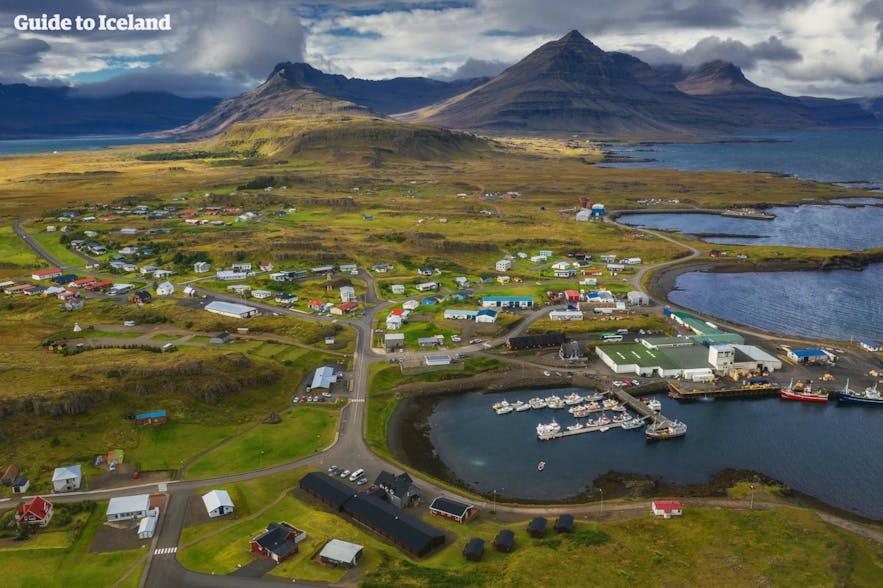 冰岛东峡湾小镇风光
