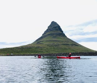 スナイフェルスネス半島発|キルキュフェットルの山を見るカヤック体験
