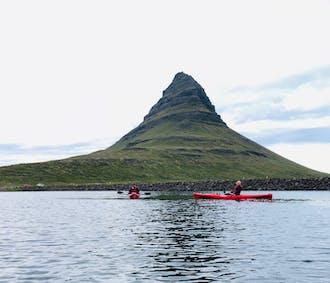 Kayaks Under Mt. Kirkjufell   Snaefellsnes Day Tour