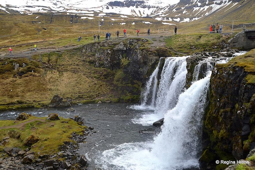 Kirkjufellsfoss waterfall in Grundarfjörður