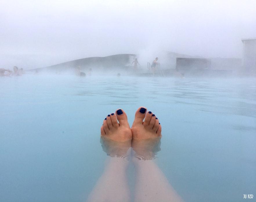 Trempette dans les bains naturels de Myvatn