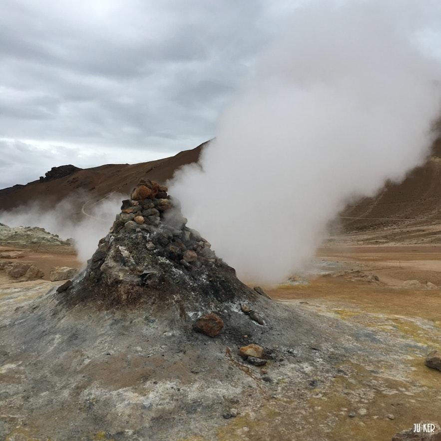 Vers Myvatn dans le nord de l'Islande