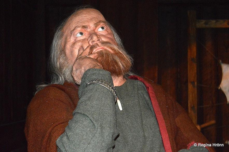 Snorri Sturluson as depicted at theSaga Museum in Reykjavík