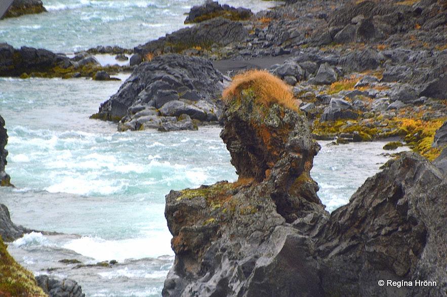 Skjálfandafljót river - a peculiar rock