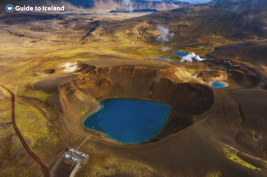 冰島北部克拉夫拉火山