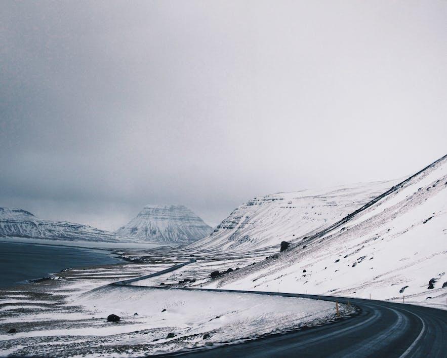 冰島冬季覆雪公路