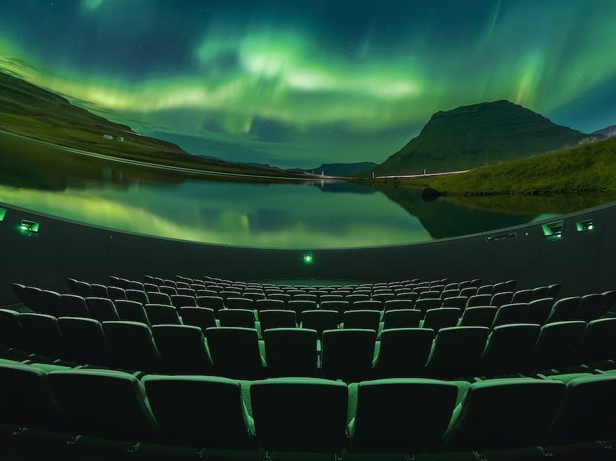 冰岛珍珠楼北极光天文馆电影
