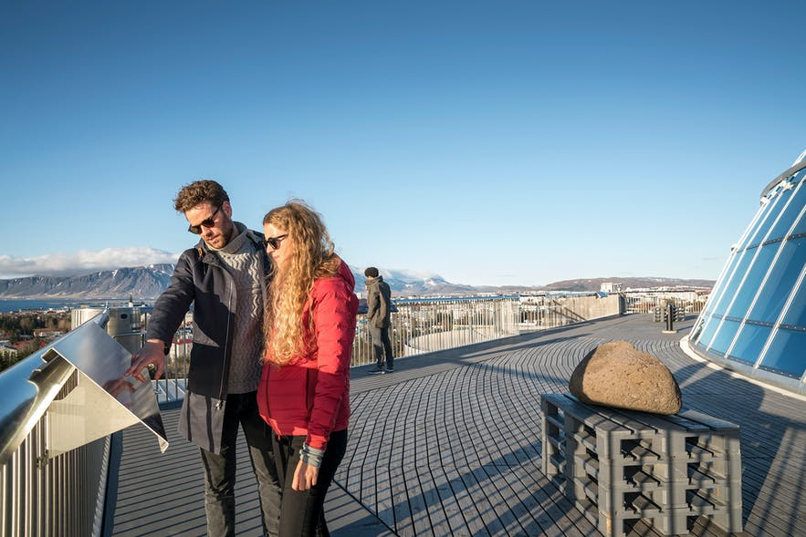 Perlan has an observation deck that allows for excellent views over Iceland's capital and surrounding nature.