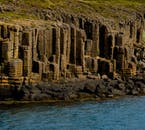 The coast of Iceland has many beautiful geological formations.