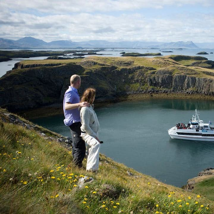 The coasts of Iceland are best viewed by boat or ferry.