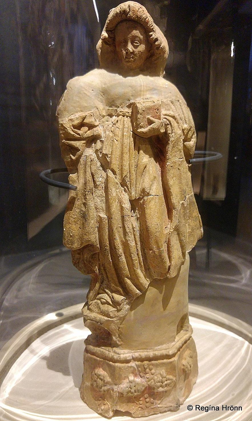 A figure of St. Barbara found at Skriðuklaustur
