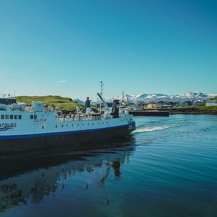 Baldur渡轮单程船票 起点斯奈山半岛,途经弗拉泰小岛,终点西峡湾