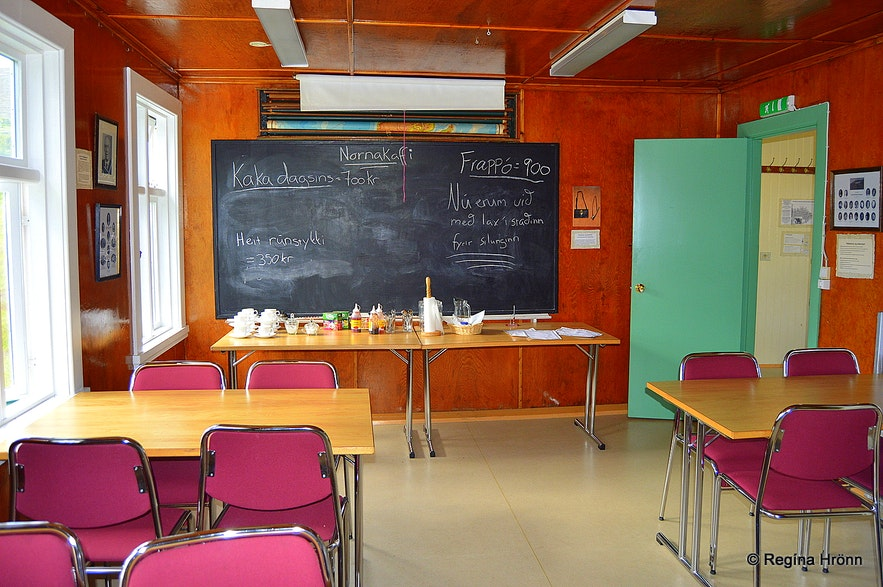 Inside the old boarding school at Skógar in Fnjóskadalur