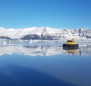 Sortie en aéroglisseur sur la lagune glaciaire de Jokulsarlon