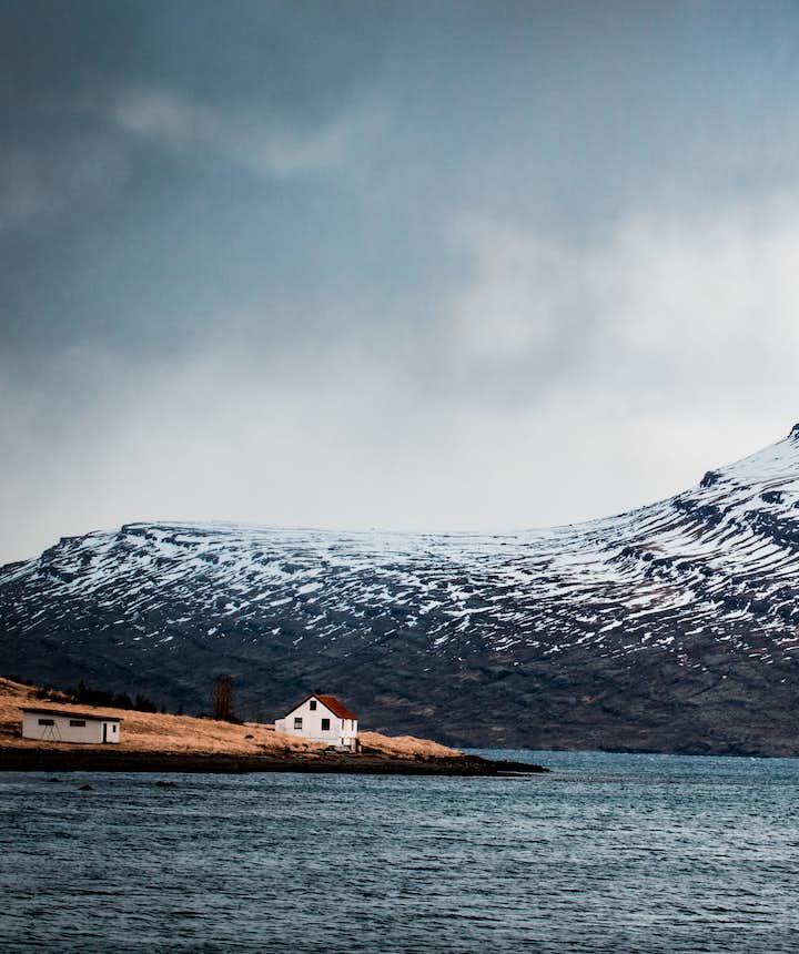 冰島初冬11月景色