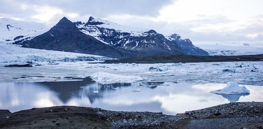 冰島冰川冰河湖