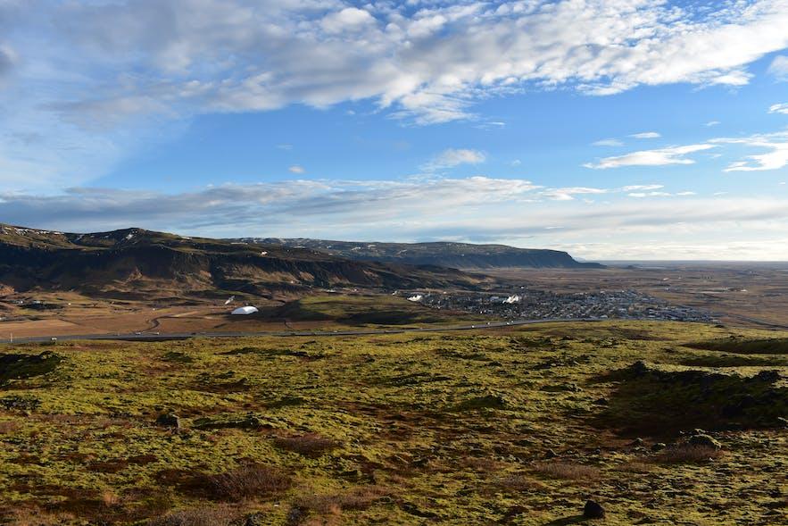 Aussichtspunkt über Hveragerdi in Island
