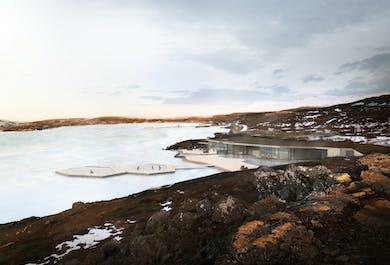 Entrée aux sources chaudes de Vok   Détente dans l'Est au lac Urridavatn