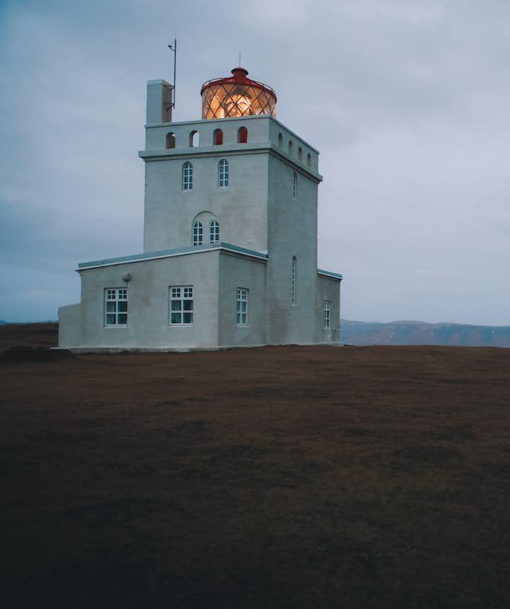 冰岛迪霍拉里的Dyrhólaeyjarviti灯塔