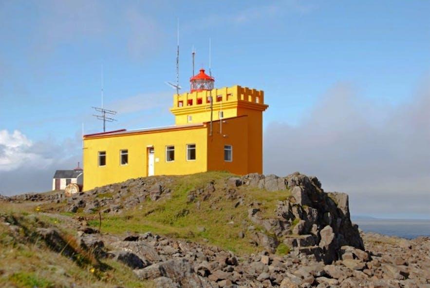 位于冰岛东部的Dalatangaviti灯塔