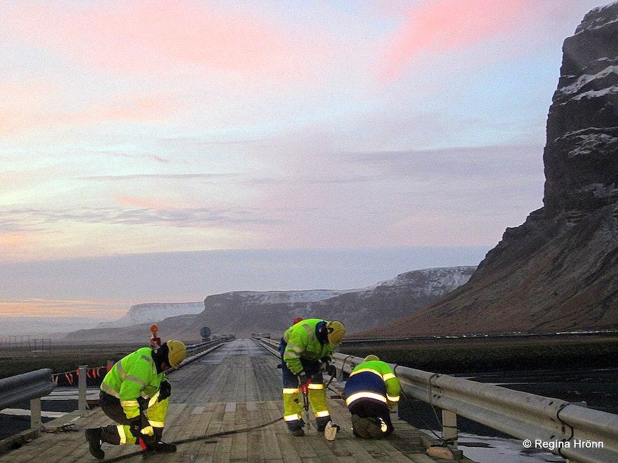 The one lane bridge by Núpsvötn S-Iceland