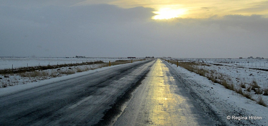 Icy roads in South-Iceland