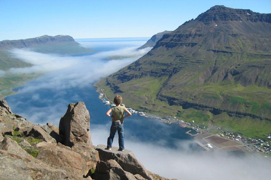 冰岛东峡湾的比约尔弗山(Bjólfur)