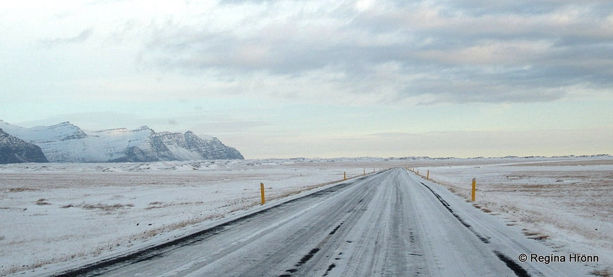 Snowy roads in South-Iceland
