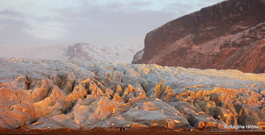 Skaftafellsjökull glacier at Skaftafell S-Iceland