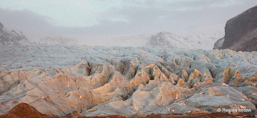 Skaftafellsjökull glacier in Skaftafell