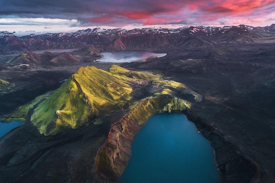 只有在夏天才可以窥探的冰岛中央高地美景