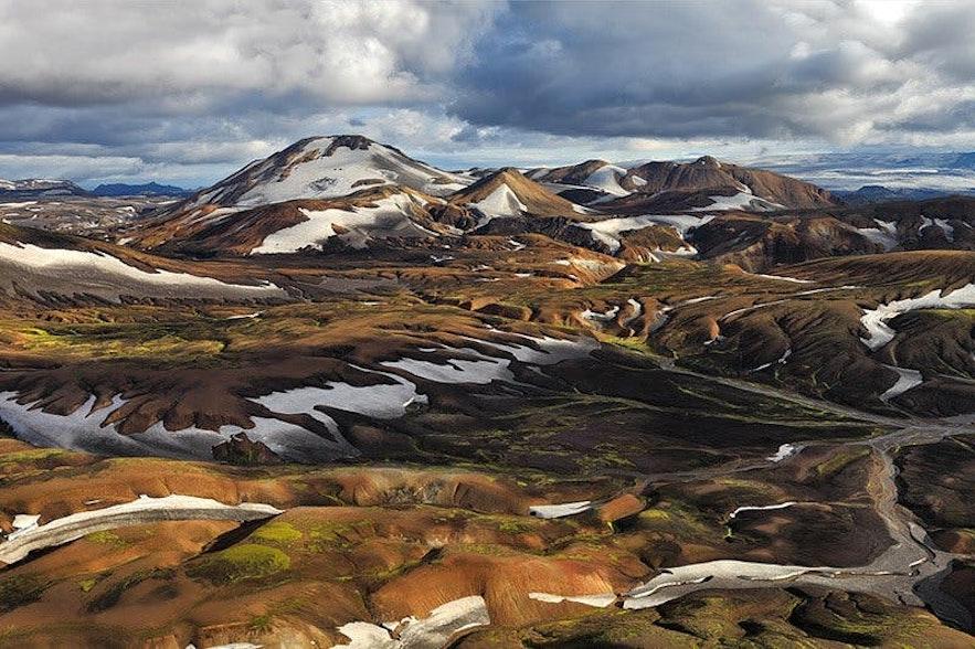 只有当山路开放的夏天才有机会探秘冰岛中央内陆高地的美景