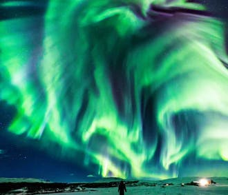 Northern Lights Tour 9 Seater Bus Keflavik