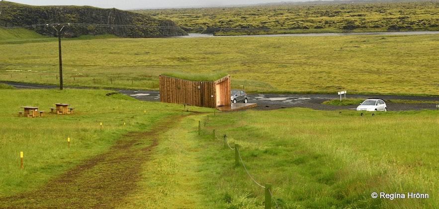 The lower parking lot by  Fjaðrárgljúfur Canyon in South-Iceland