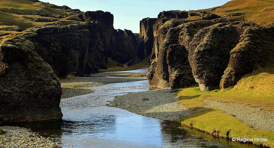 Fjaðrárgljúfur Canyon in South-Iceland