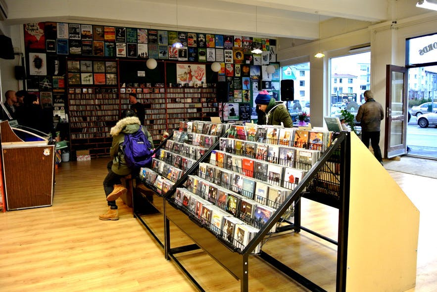 Lucky Records is the best known record store in Reykjavik