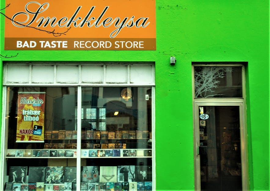 Smekkleysa is a punk record shop in Iceland's capital.