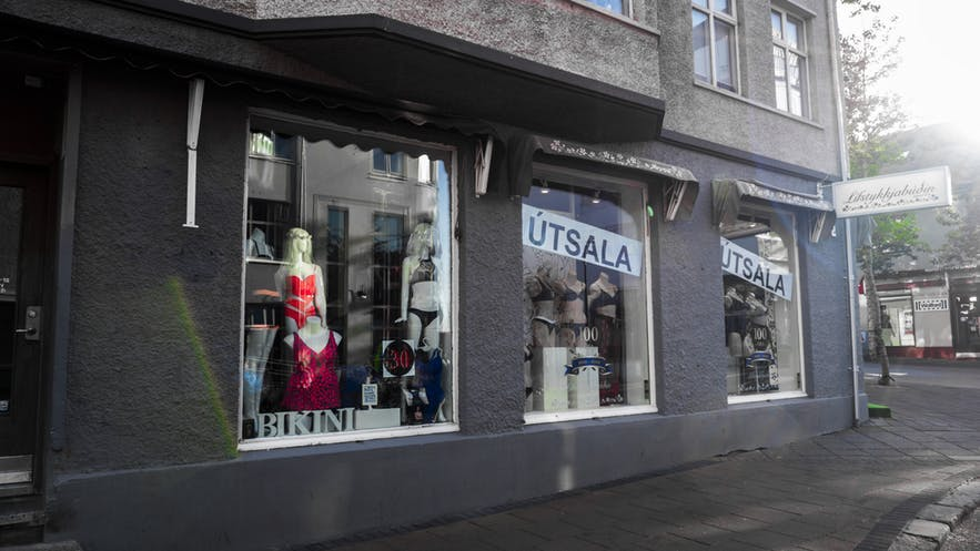 Lisfstykkjabudin is a clothing shop in Iceland.