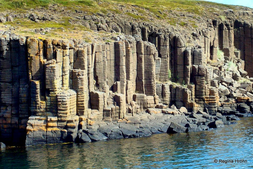 Basalt columns in Breiðarfjarðareyjar islands