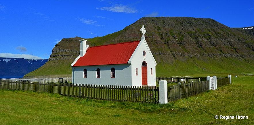 Sæbólskirkja church at Ingjaldssandur Westfjords