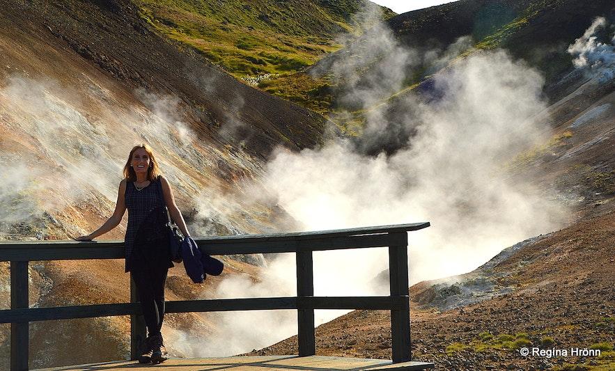 Regína at Nesjavellir geothermal area