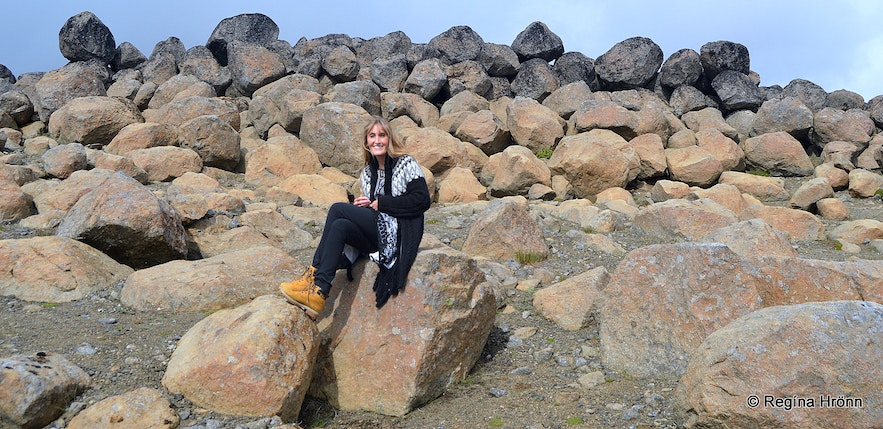 Regína at Skessugarður - the Rampart of the two Giantesses in East-Iceland