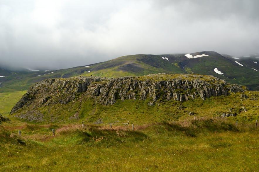 Krajobraz islandzkich Fiordów Wschodnich.