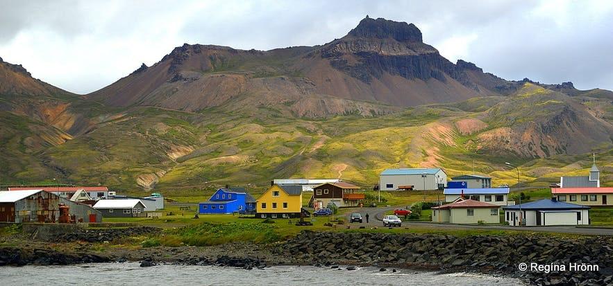 Osada Borgarfjordur na Fiordach Wschodnich.
