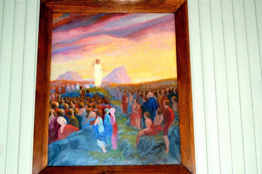 Jesus speaks to the elves at Borgarfjordur Eystri.