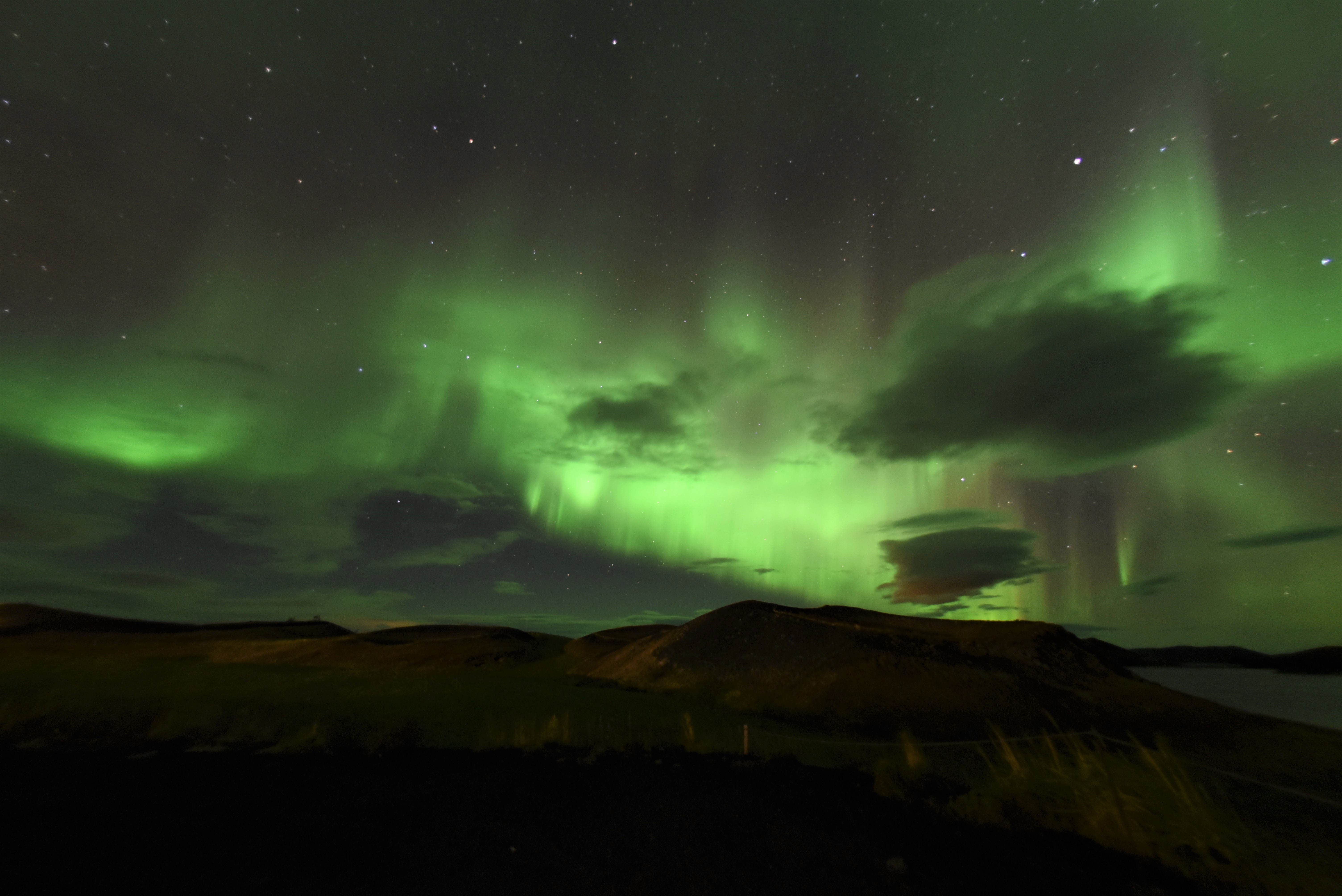 Northern Lights in North Iceland.