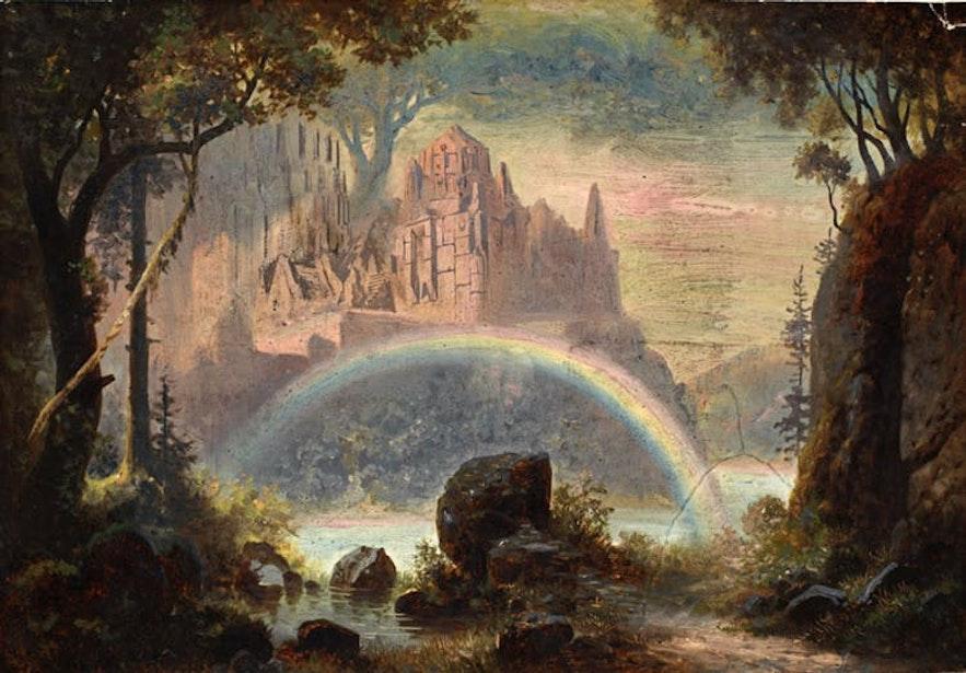 Una interpretación artística del folklore islandés