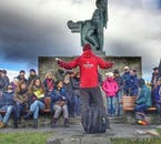 Your local guide will answer any questions you have on your walking tour of Reykjavík.