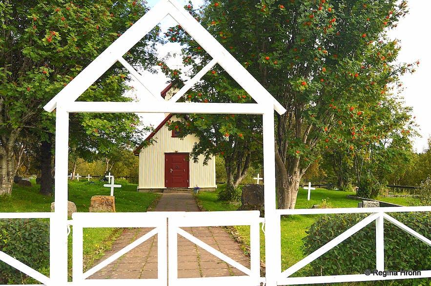 Haukadalskirkja church in Haukadalsskógur